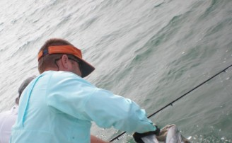 Handling and releasing Tarpon